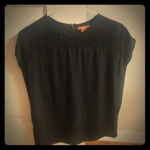 Tory Burch Flowy black silk top size 6